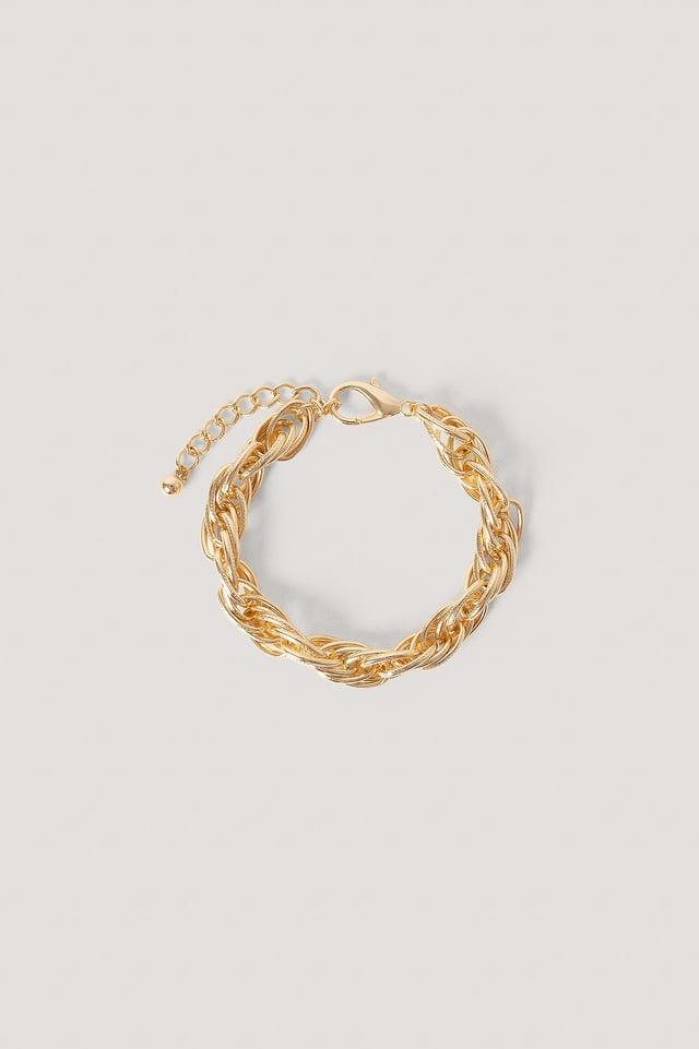 Gold Chaîne De Cheville En Grosse Corde