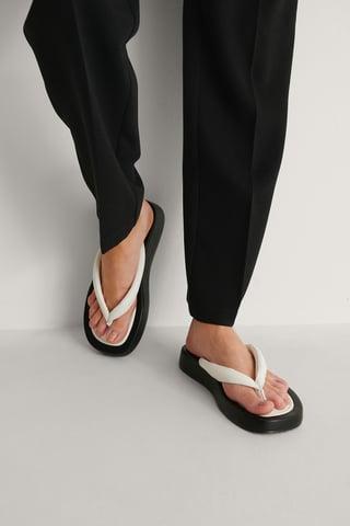 Black/White Épais Pantoufles