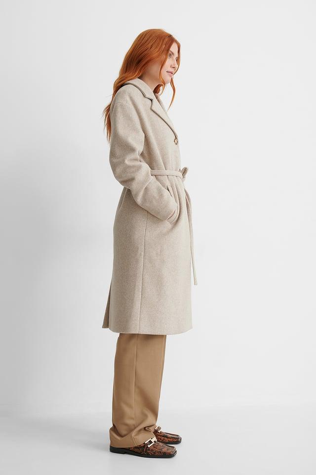Light Beige Manteau Classique