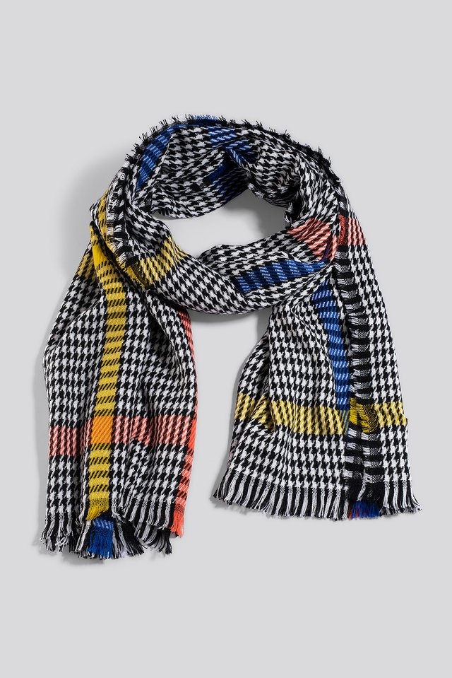 Mixed Colorful Dogtooth Scarf