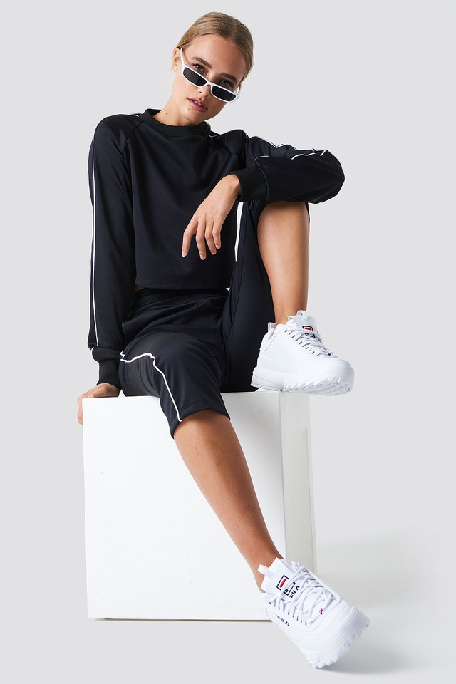 Cropped Track Pants White