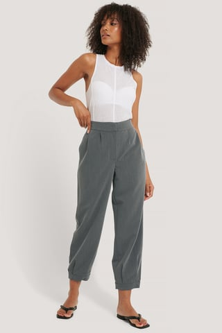 Grey Pantalon De Costume