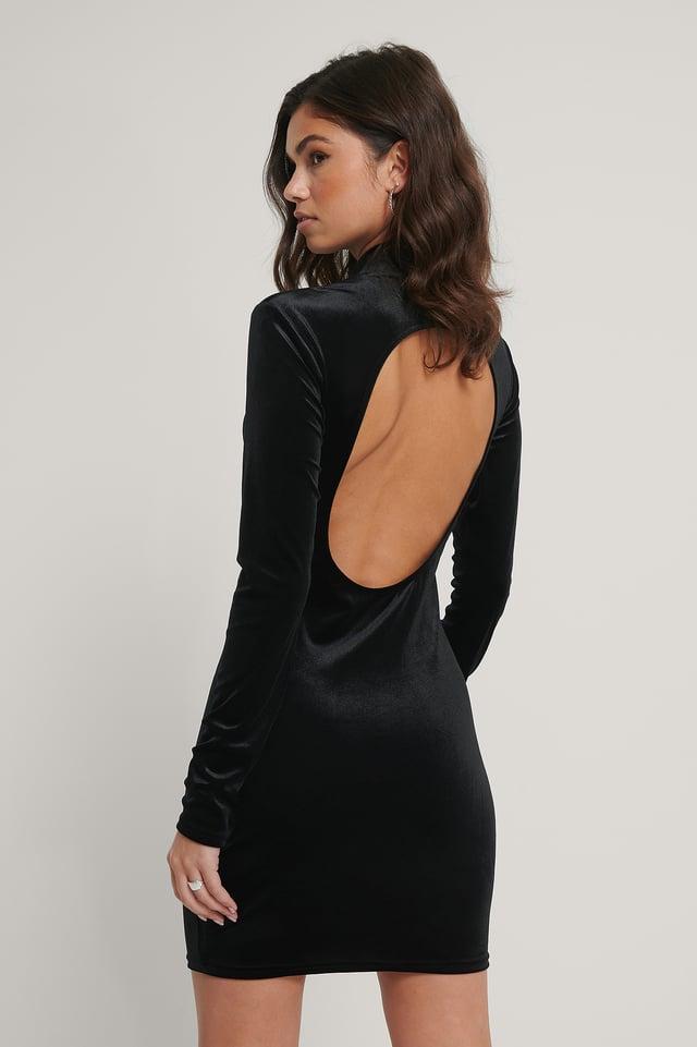 Robe Dos Plongeant Black