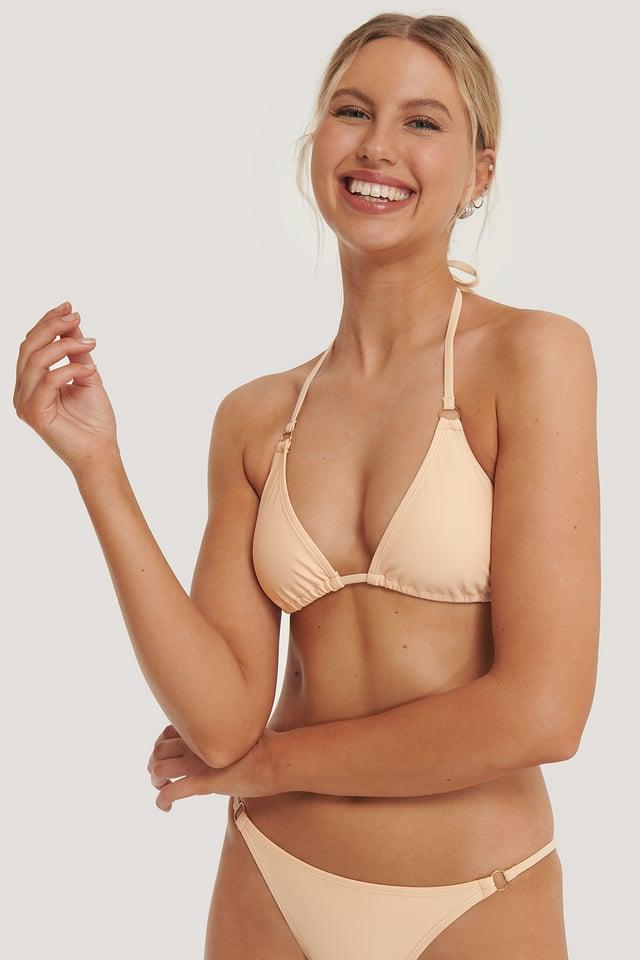 Apricot Detail Triangle Bikini Top