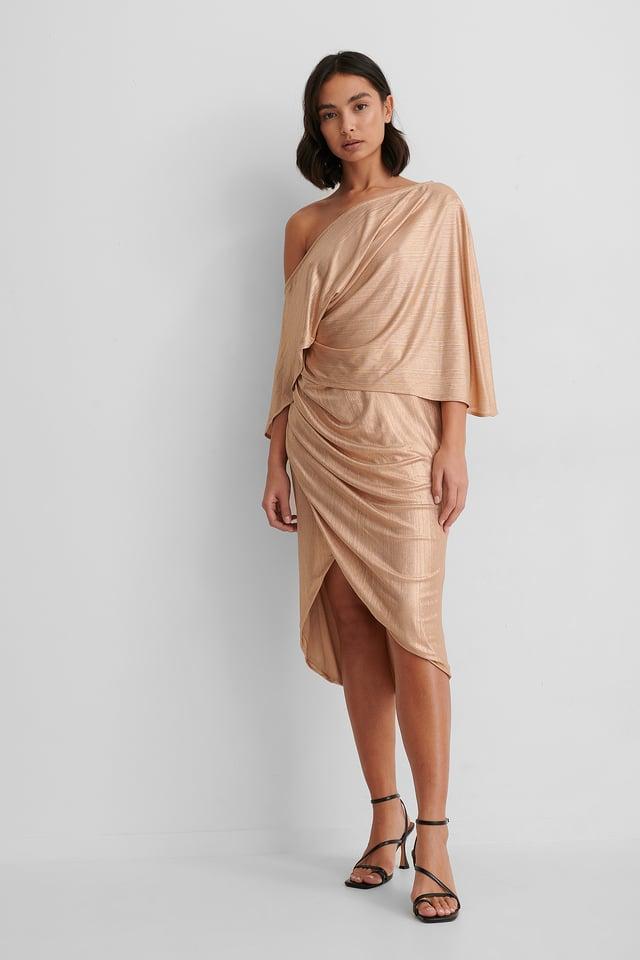 Robe Asymétrique Beige