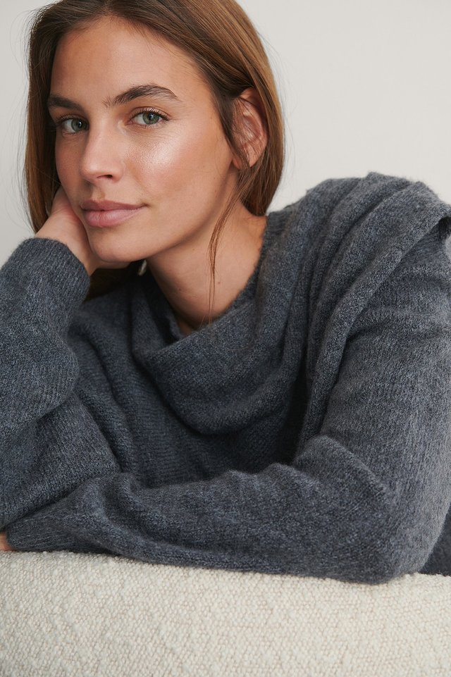 Grey Pull Maille