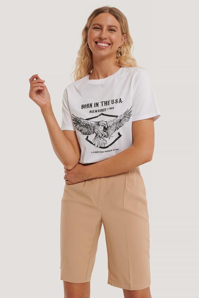 Tee-Shirt Imprimé Aigle White