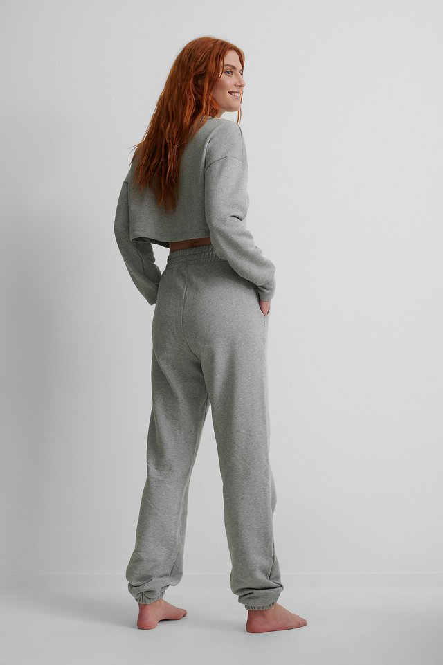 Biologiques Pantalon De Survêtement Grey Melange