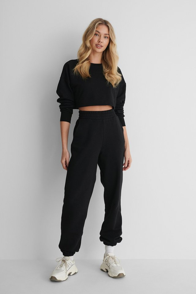 Biologiques Pantalon De Survêtement Black