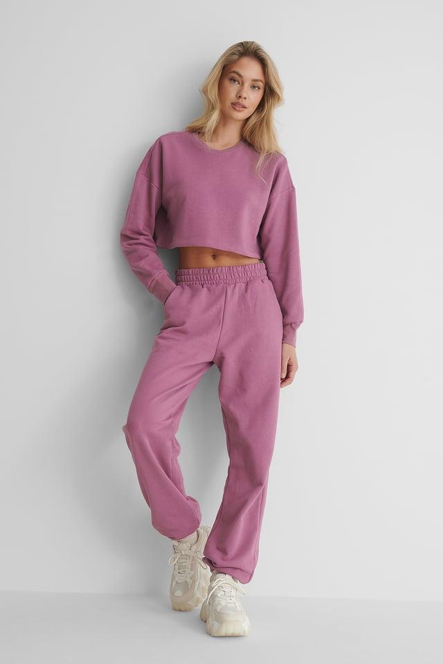 Biologiques Pantalon De Survêtement Purple