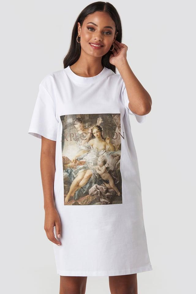 Expectation T-shirt Dress White