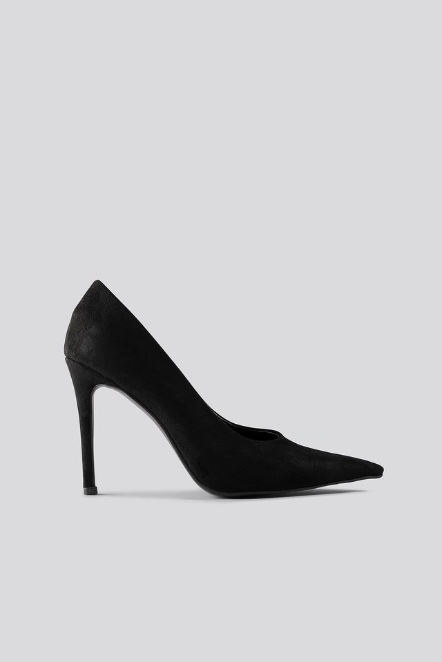 Extreme Pointy Stiletto Pumps Black