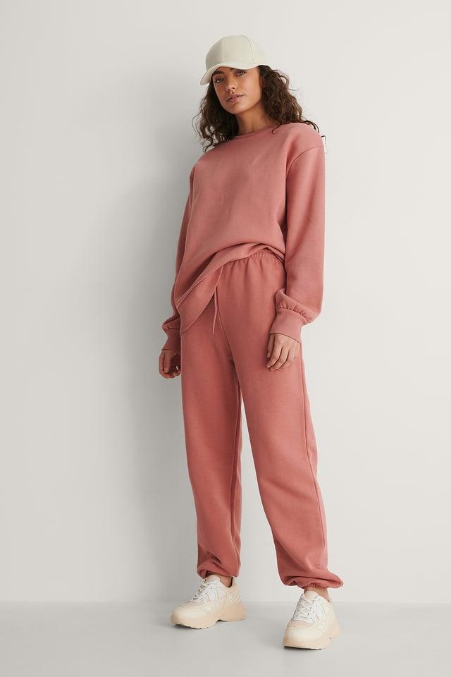 Dusty Pink Biologique Pantalon De Survêtement