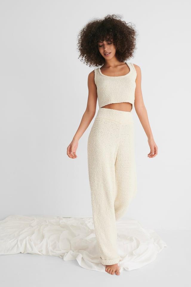 Pantalon Taille Haute Cream