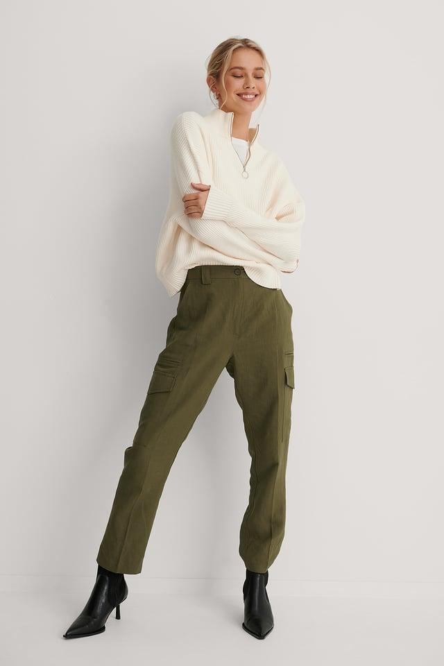 Pantalons Cargo Khaki