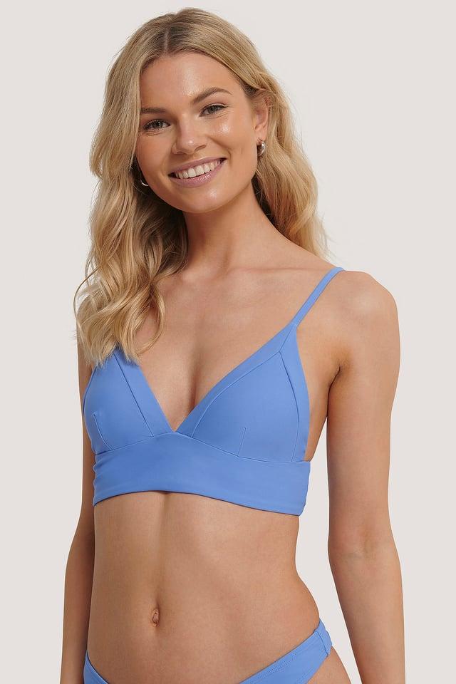 Blue Haut De Bikini