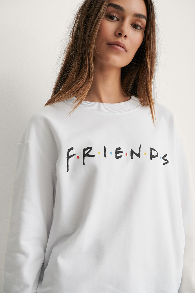 White Print Friends Biologique Pull