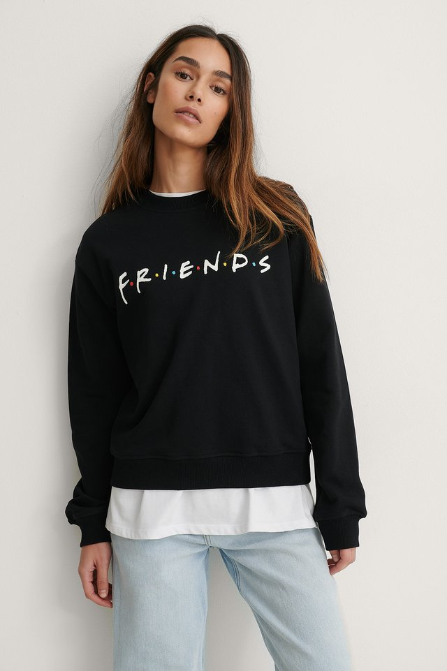 Black Print Friends Biologique Pull