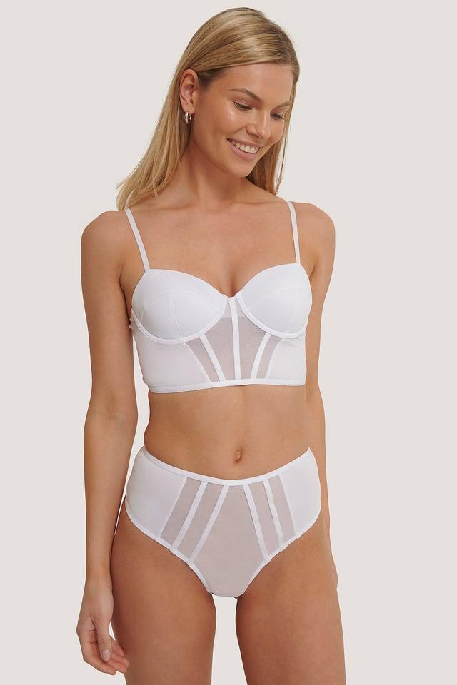 White Culotte Taille Haute
