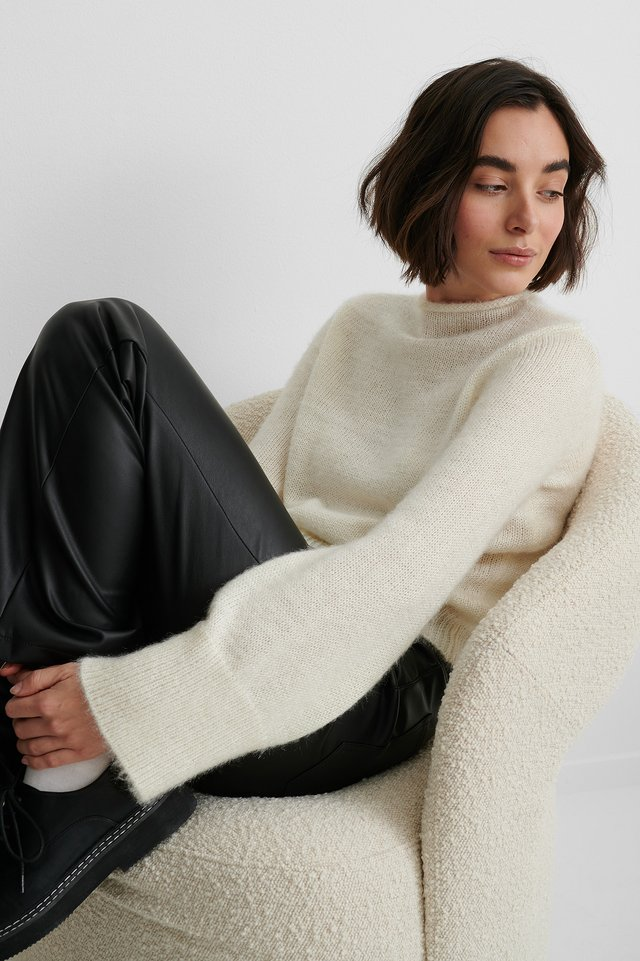 White Pull En Tricot Moelleux