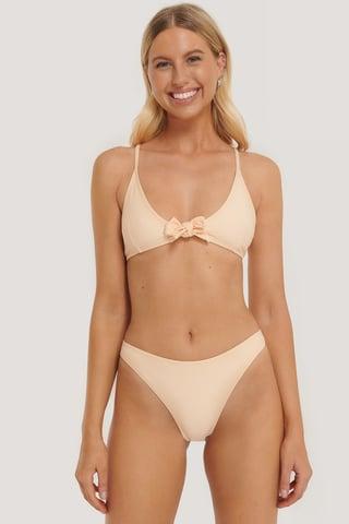 Apricot Culotte De Bikini Taille Échancrée