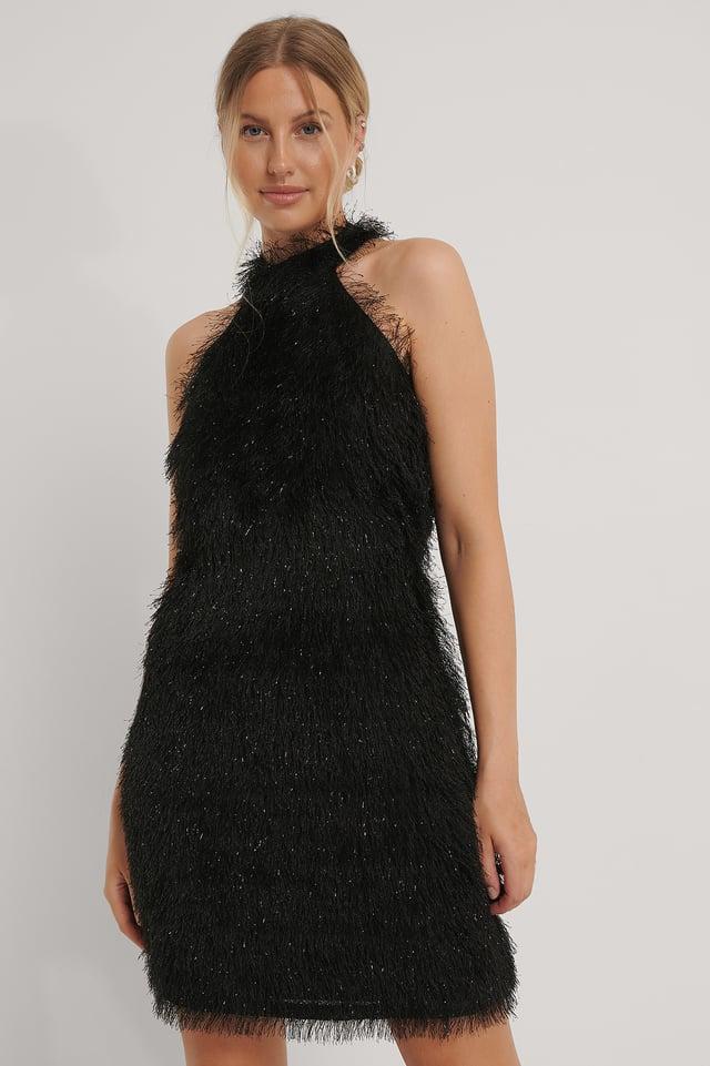 Robe À Franges Black