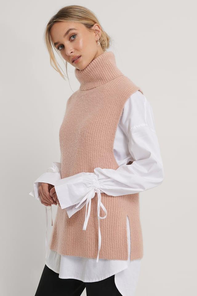 Gilet Dusty Pink