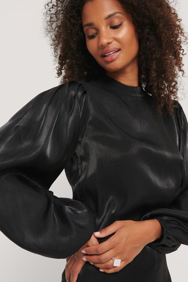 Robe Col Haut Black
