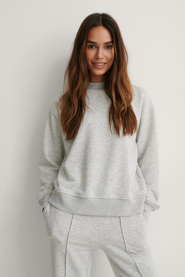 Grey Melange Biologique Sweatshirt