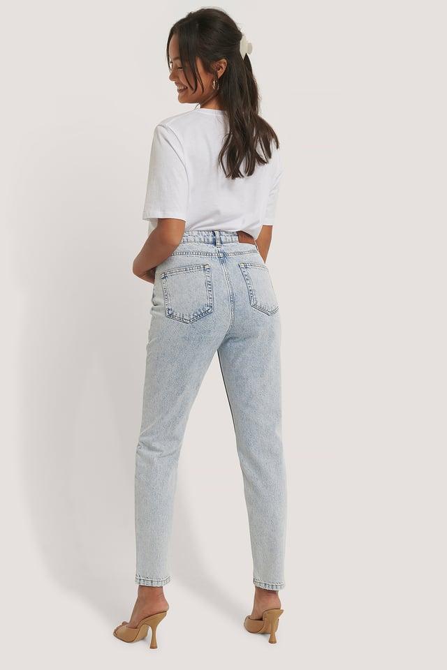Jean Slim Taille Haute Light Blue