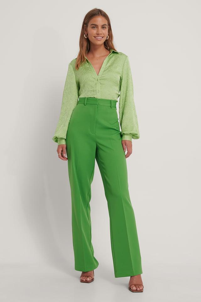 Pantalon De Costume Taille Haute Leaf