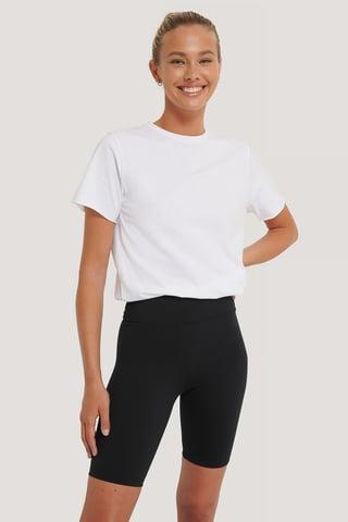 Black Pantalon Motard Taille Haute