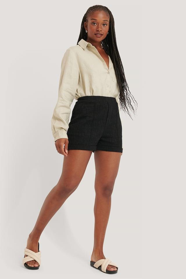Black Short Taille Haute
