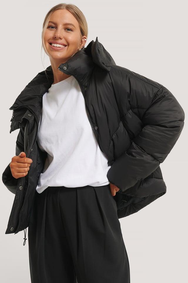 Veste Matelassée À Capuche Black