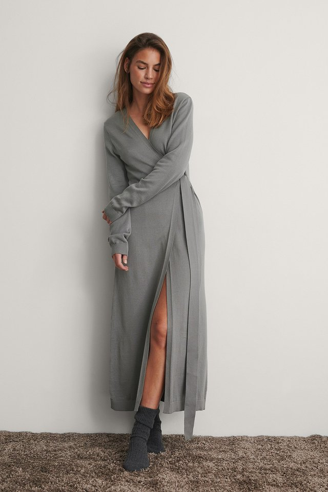 Grey Robe Tricot