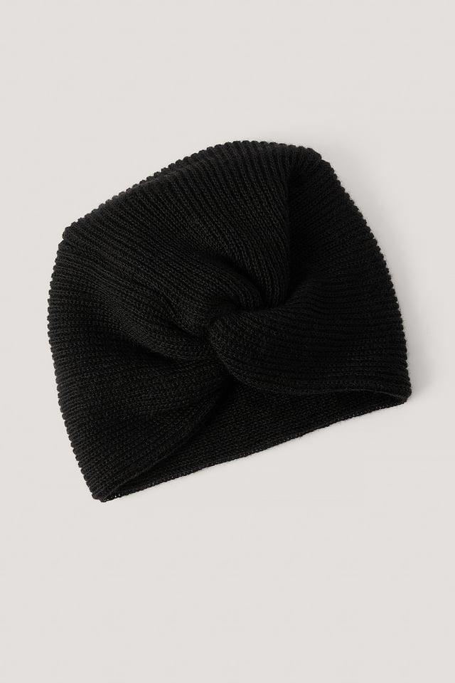 Turban À Détails Black