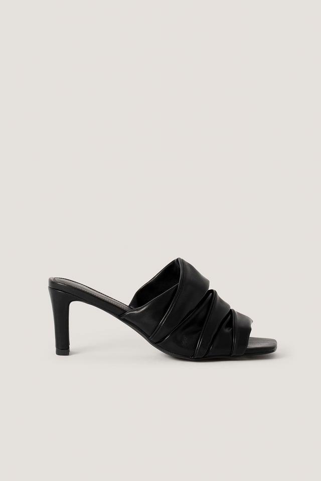 Black Layered Upper Mules