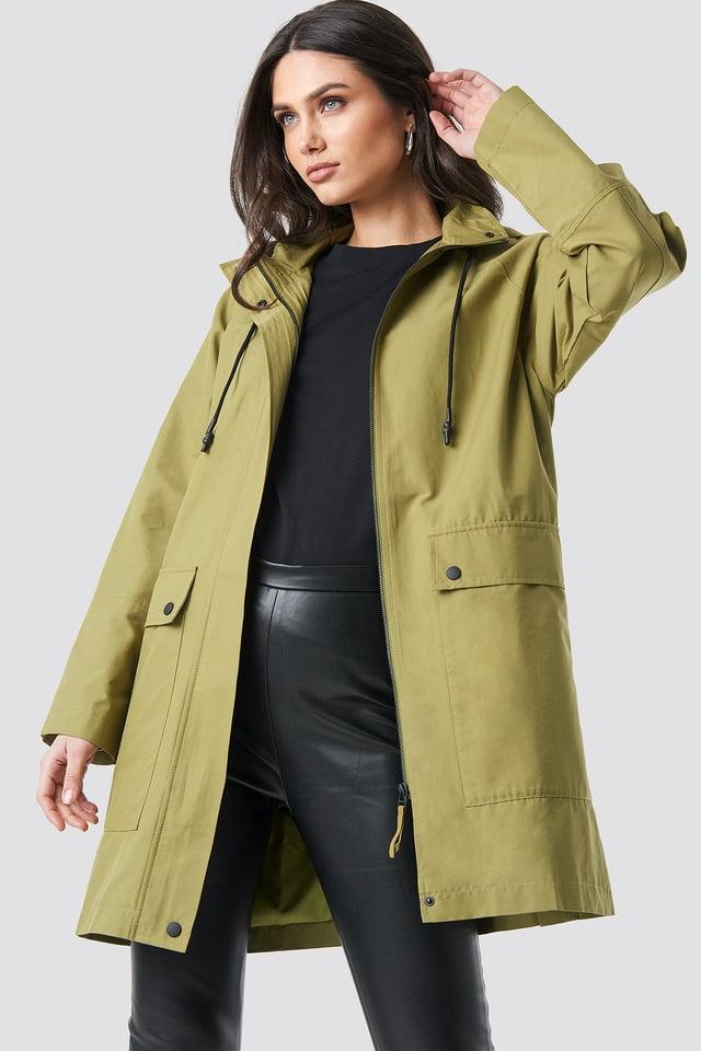 Lightweight Hooded Parka Green
