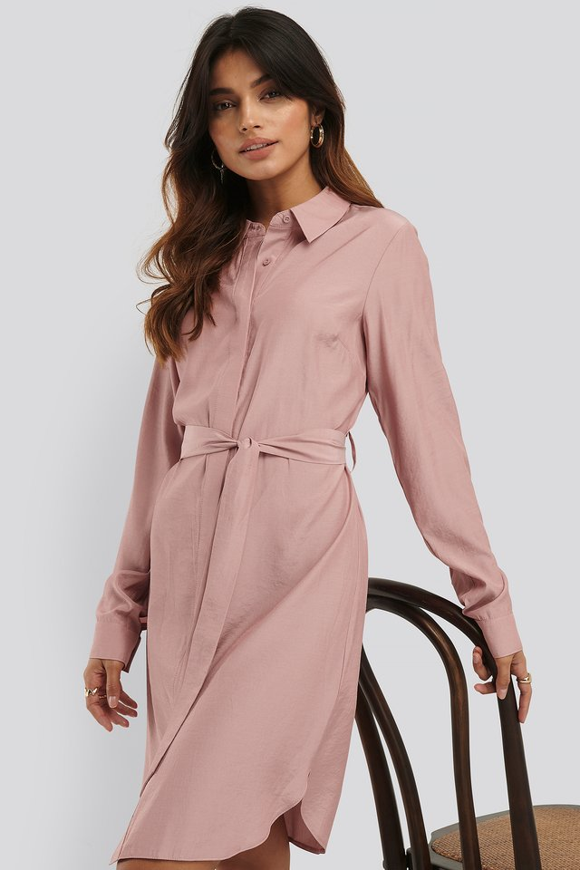 Robe Chemise Dusty Pink