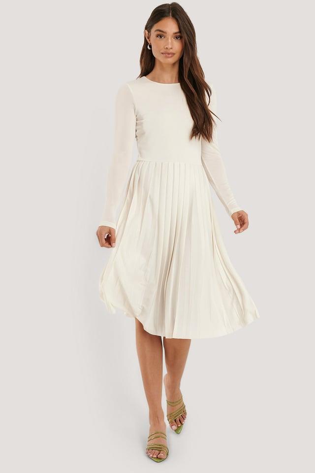 Robe Mi-Longue White