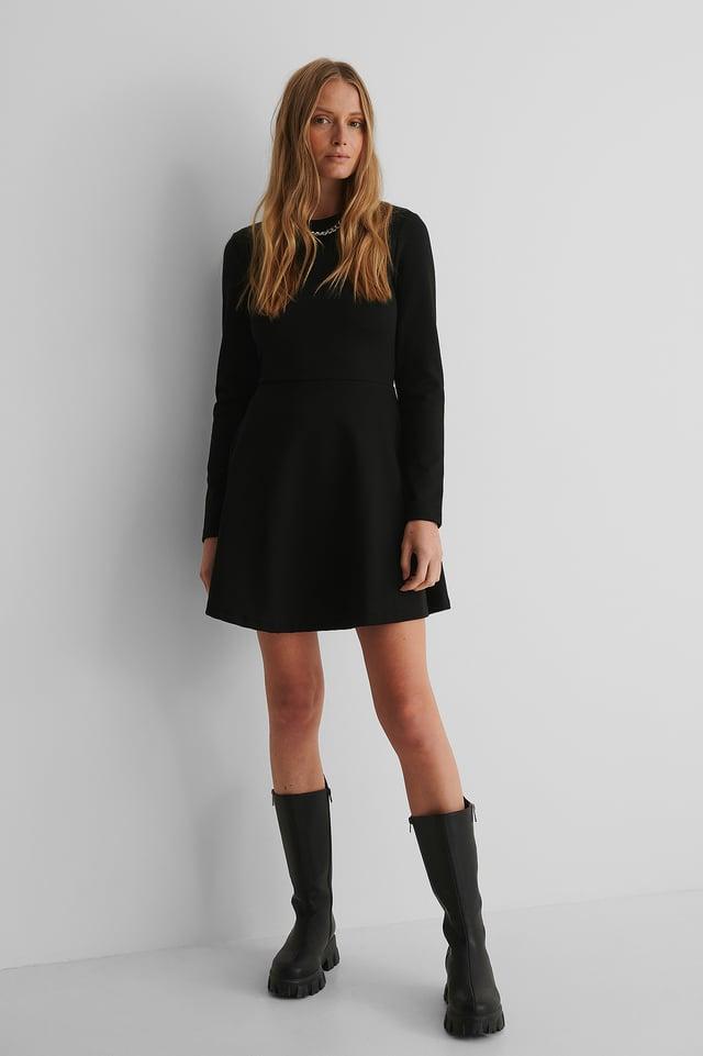 Mini Robe Manches Longues Black