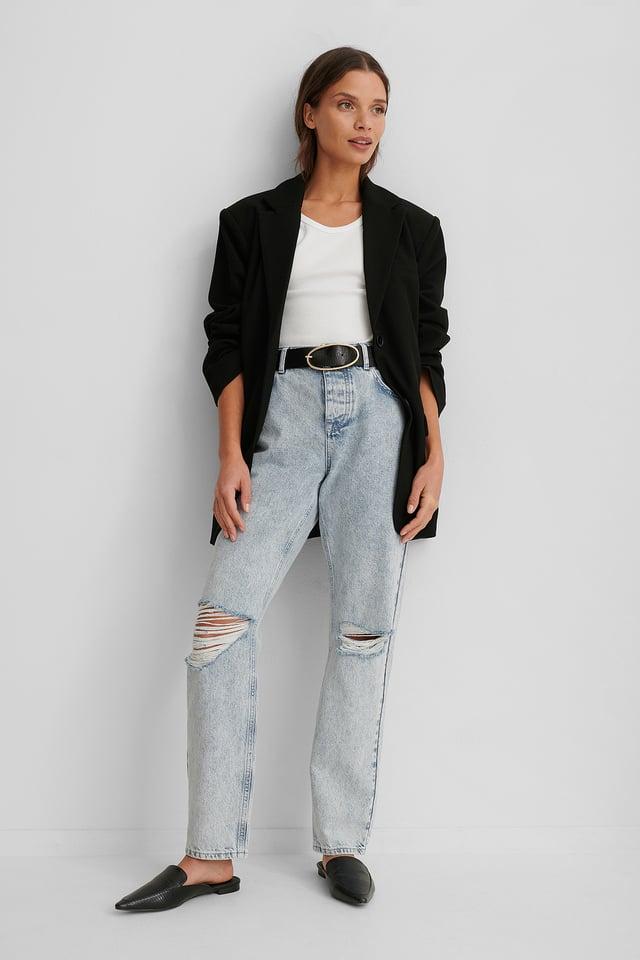 Jeans Déchirés Light Blue
