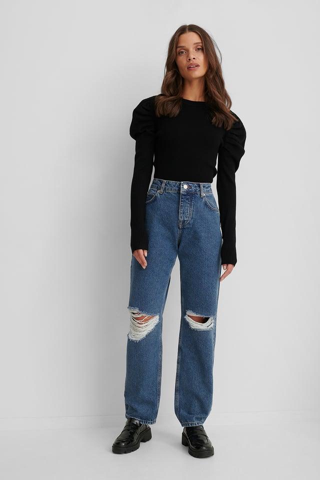 Jeans Déchirés Mid Blue