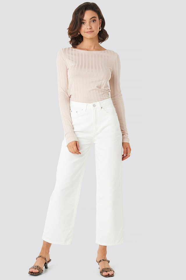 Offwhite Loose Leg Jeans