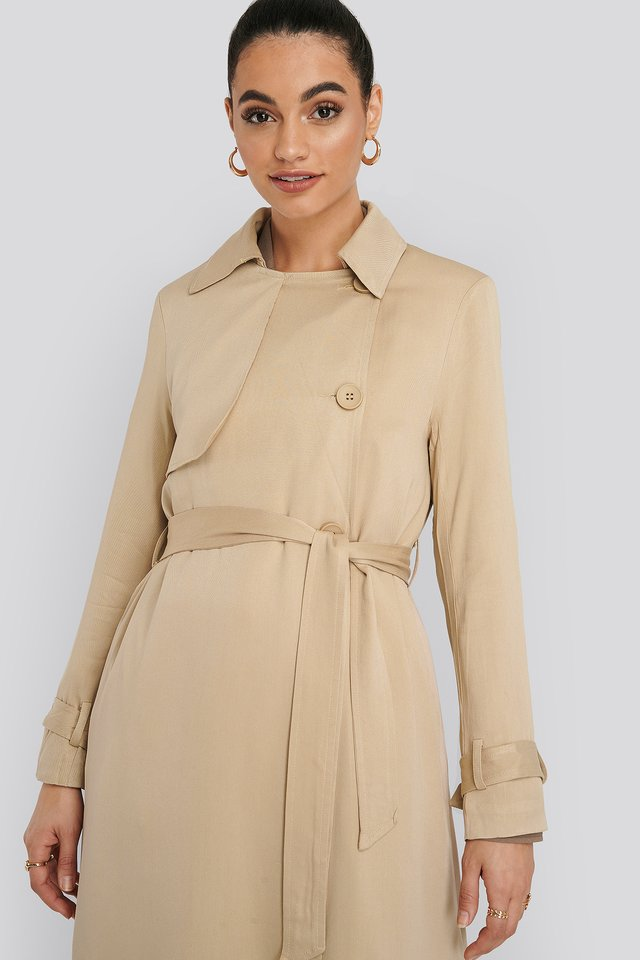 Mac Trench Coat Beige