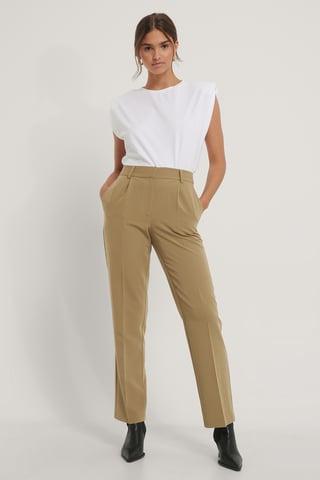 Moss Pantalon De Costume Taille Mi-Haute