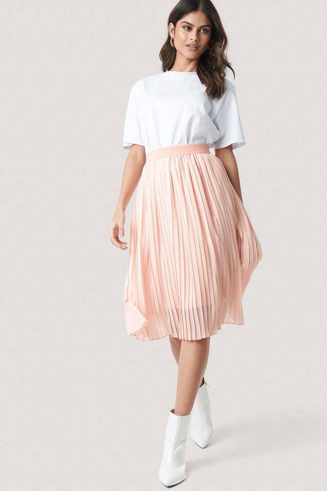 Midi Pleated Skirt Rose Quartz