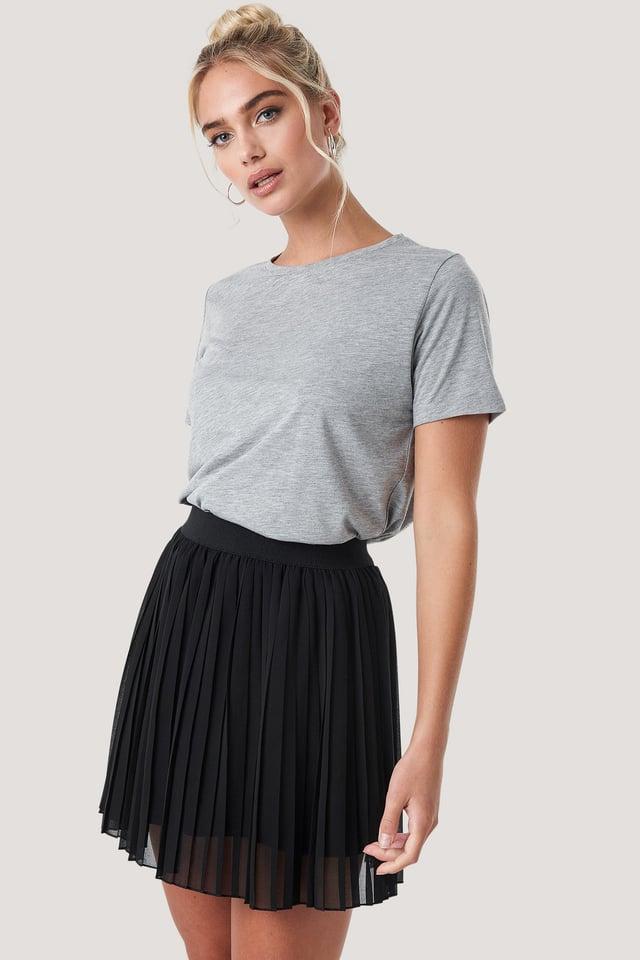 Mini Pleated Skirt Black