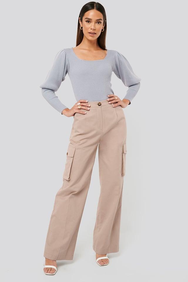 Big Pocket Cargo Pants Pale Mauve