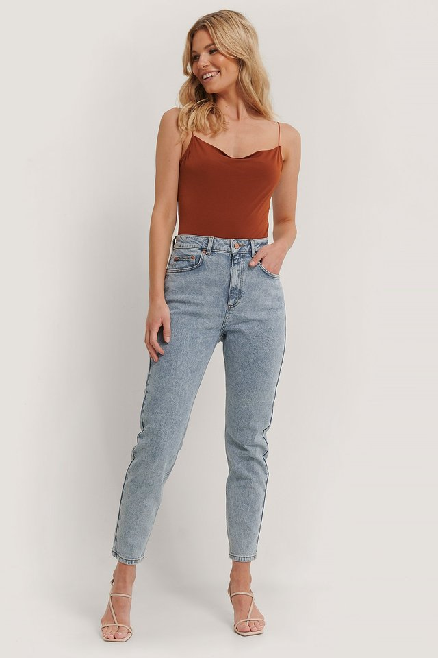 Acid Blue Mom Jeans